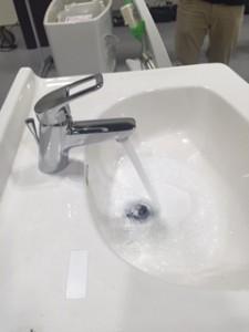 洗面給水成功